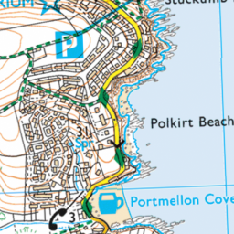 Map Of Car Parks In Mevagissey